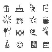 Birthday party icons — Stock Vector