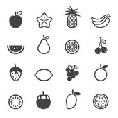 Fruit vector icons — Stock Vector