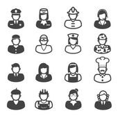 People occupation icons — Vector de stock
