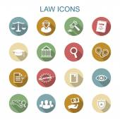 Law long shadow icons — Stock Vector
