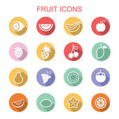 Fruit long shadow icons — Stock Vector