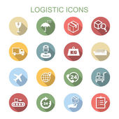 Logistic long shadow icons — Stock Vector