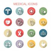 Medical long shadow icons — Stock Vector