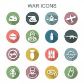 War long shadow icons — Stok Vektör