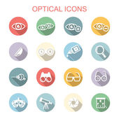Optical long shadow icons — Stock Vector