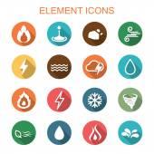 Element long shadow icons — Vetor de Stock