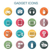 Gadget long shadow icons — Stock Vector