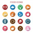 Food long shadow icons — Stock Vector #58756497