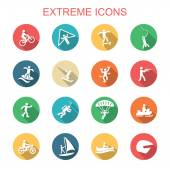 Extreme long shadow icons — Stock Vector