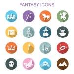 Fantasy long shadow icons — Stock Vector #59500411