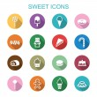 Sweet long shadow icons — Stock Vector #59500709