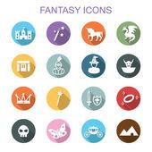 Fantasy long shadow icons — Stock Vector