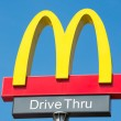 Постер, плакат: McDonalds logo with Drive Thru sign