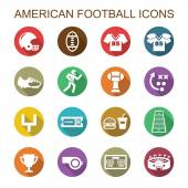 American football long shadow icons — Stock Vector