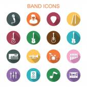 Band long shadow icons — Vector de stock