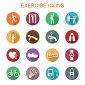 Exercise long shadow icons — Stock Vector
