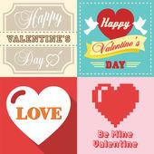Valentines day typographic — Stock Vector