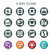 X-ray long shadow icons — Stock Vector