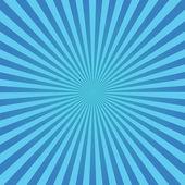 Blue sunburst background — Stock Vector