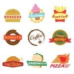 Fast food logo — Stock Vector #63855771