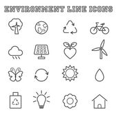 Environment line icons — Wektor stockowy