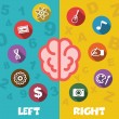 Left and right brain — Stock Vector #64561147
