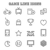 Game line icons — Stock Vector