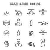 War line icons — Vector de stock