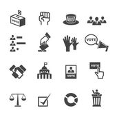 Democracy icons — Stock Vector