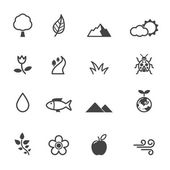 Natural icons — Stock Vector