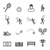 Tennis icons — Stock Vector