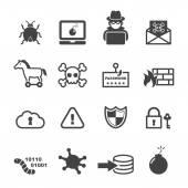 Cyber crime icons — Stok Vektör
