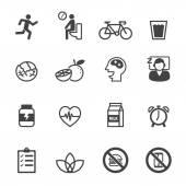 Wellness icons — Stock Vector