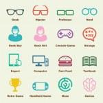 Geek elements — Stock Vector #79098010