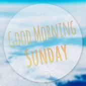 Bonjour dimanche sur arrière-plan flou — Photo