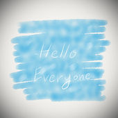 Hello Everyone text on blue water color background — Stock Photo