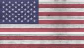 Usa flag wood plank wall texture background — Stockfoto
