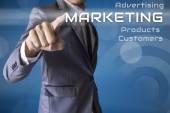 Businessman press Marketing of business conceptual — Photo