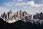 Peaks of the Odle-Geisler group in the South Tyrol, Italy. — Stock Photo