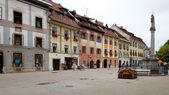 Main Square in Skofja Loka — Stock Photo