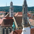 Постер, плакат: The roofs of the old town of Sopron