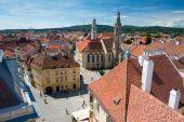 Main square in Sopron — Zdjęcie stockowe