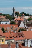 The roofs of the old town of Sopron — Foto Stock