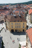 Overview the main square of Sopron. — Stock Photo