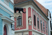 Facade of old building in Sopron — Stock Photo