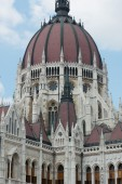 The Dome of the Parliament of Budapest — Stock Photo