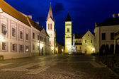 Night view of old town in Veszprem — Stockfoto