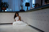 Bride laying down — Stock Photo