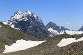 Mount Dombay-Ulgen, the top of the Western Caucasus. Karachay-Cherkess Republic, Russia — Stock Photo