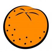 Icon of orange — 图库矢量图片